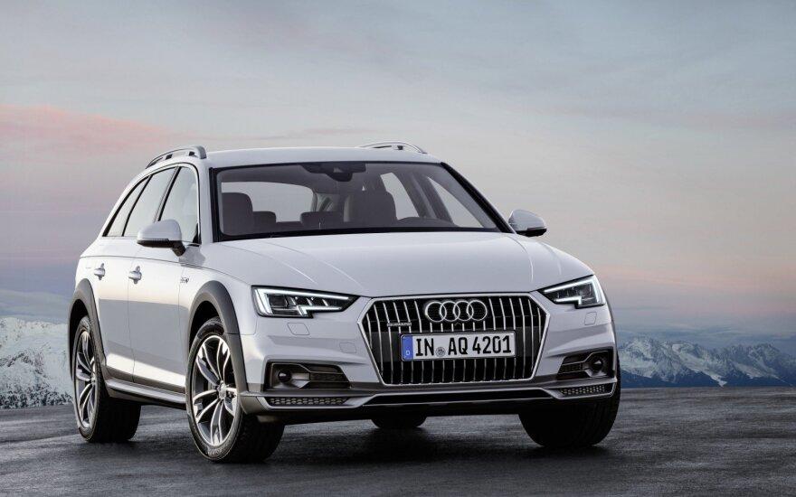 """""""Audi"""" pardavimai kovą ūgtelėjo dešimtadaliu"""