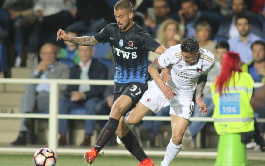 """""""Atalanta"""" ir """"AC Milan"""" futbolininkų akistata"""