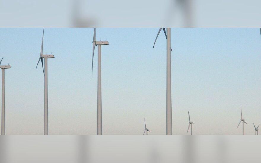 Vėjo energijai įjungti stabdžiai