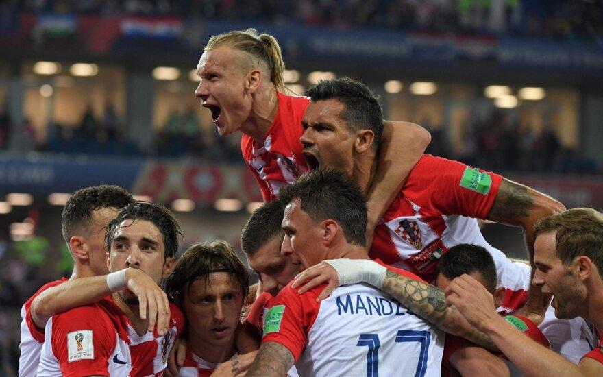 Kroatijos rinktinė nubaudė Nigeriją už klaidas ir tapo grupės lydere