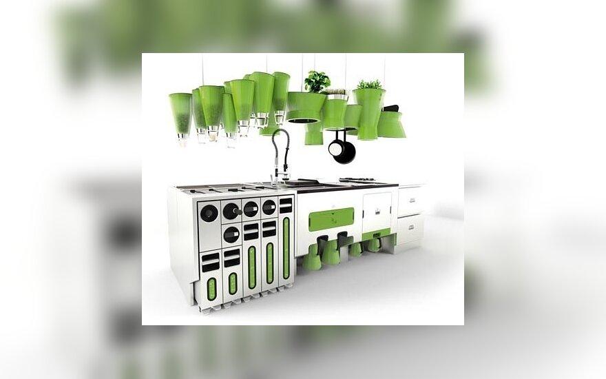 Futuristinė kompostuojanti ekologiška virtuvė