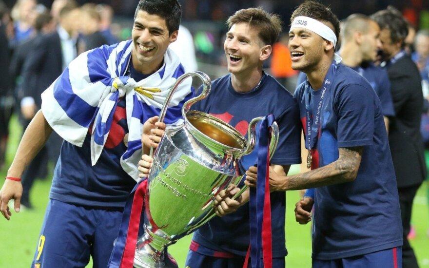 Luisas Suarezas, Lionelis Messi ir Neymaras