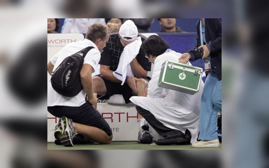 Andy Roddickas patyrė traumą