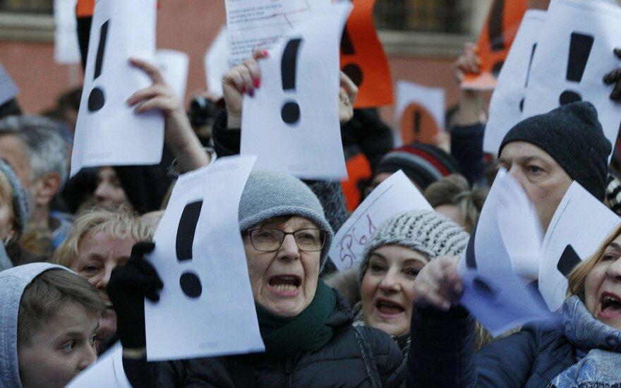Mokytojų streikas Lenkijoje