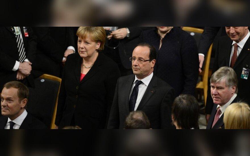 Angela Merkel, Francois Hollande'as, Dalia Grybauskaitė