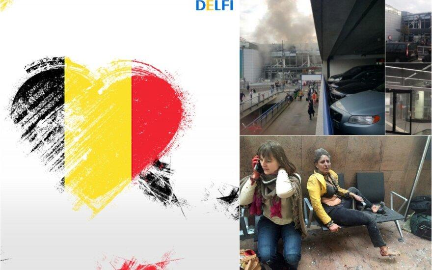 Iš Vilniaus – užuojautos ir palaikymas Briuseliui