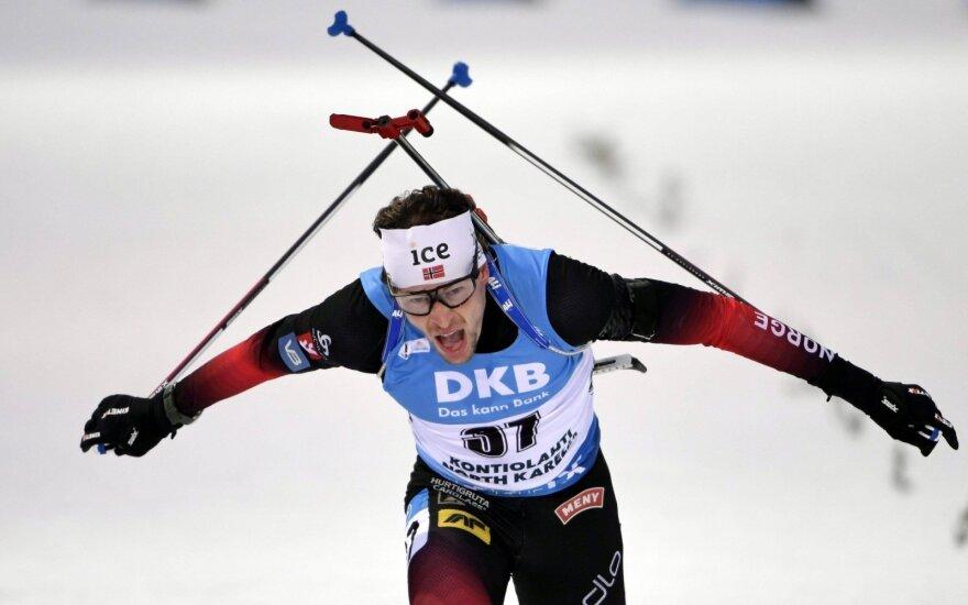 Pasaulio biatlono taurėje du lietuviai pateko į persekiojimo rungtį