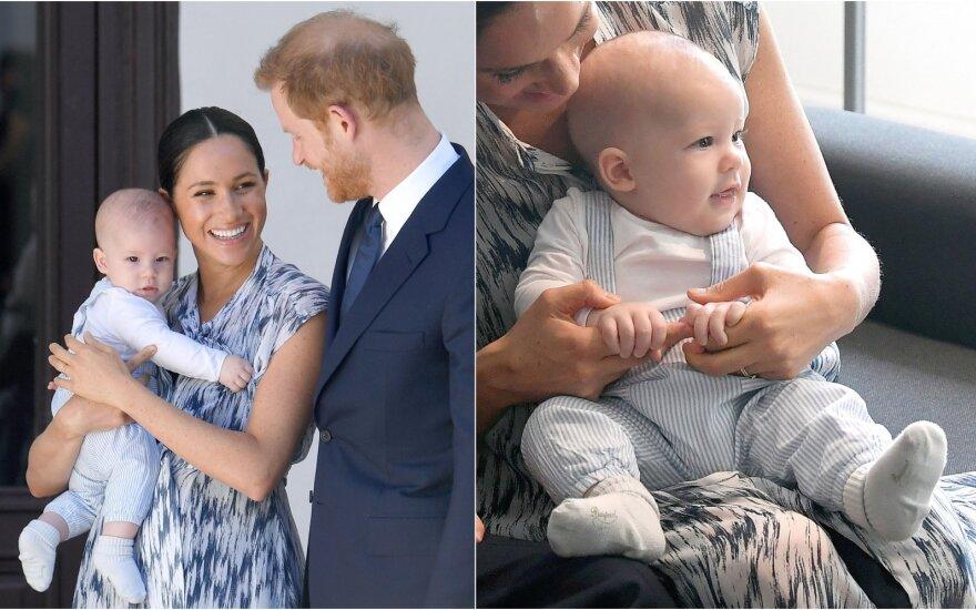 Meghan Markle, princas Harry ir jų sūnus Archie