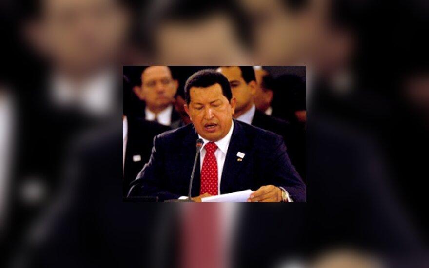 Venesuelos prezidentas Hugo Chavezas susitikime su Karibų baseino šalių vadovais