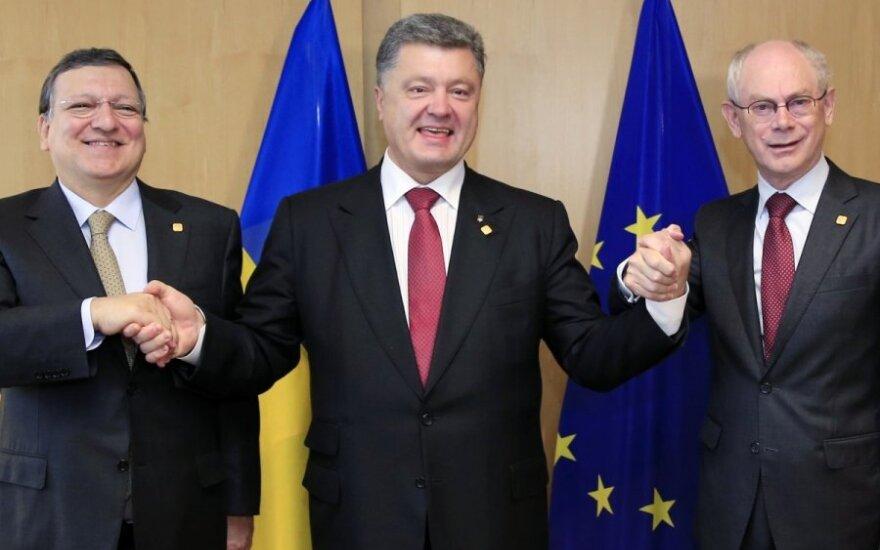Jose Manuel Barroso, Petro Poroshenka, Herman Van Rompuy