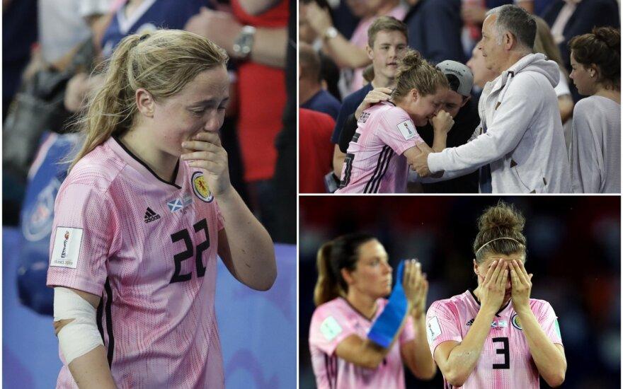 Škotijos futbolininkės verkė po pralaimėjimo Argentinai