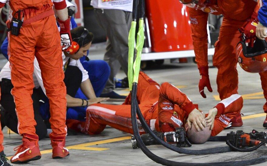 """""""Ferrari"""" mechanikas patyrė kraupią traumą"""