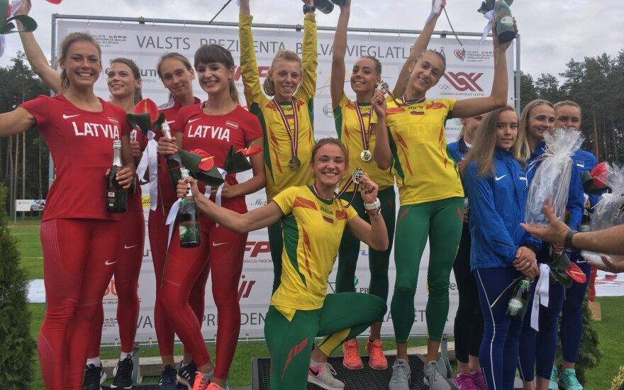 Moterų 4x400 m komanda tapo Baltijos šalių čempione / Foto: Robertas Trakys