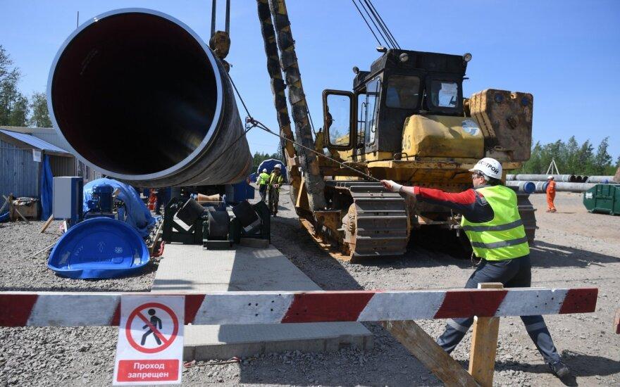 """Lenkija ketina skirti didelę baudą dėl """"Nord Stream 2"""""""