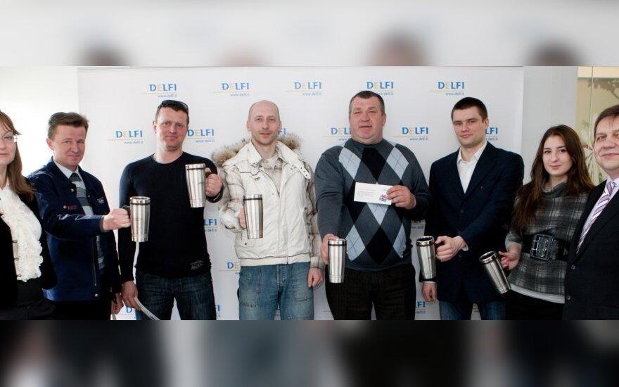 Apdovanoti Nacionalinio kelių eismo taisyklių egzamino nugalėtojai