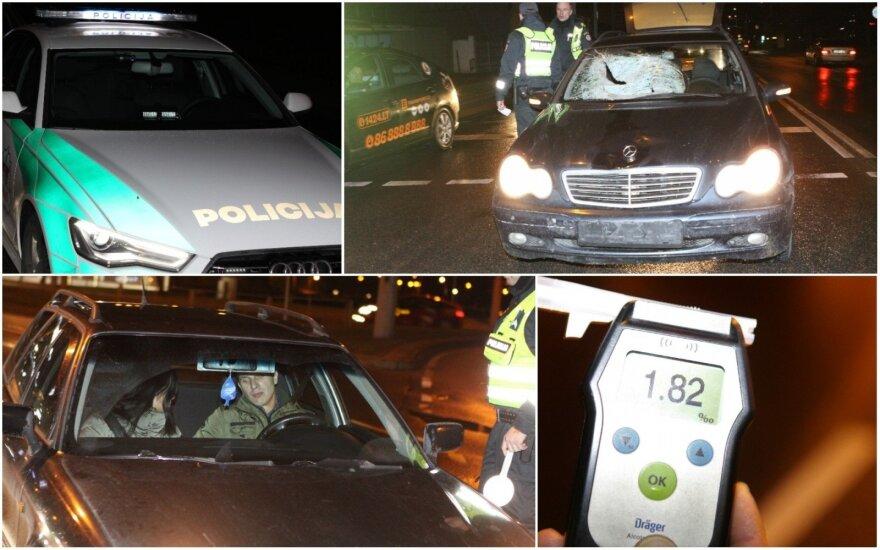 Vilniuje naktį surengtas itin didelis reidas – keletui vairuotojų tai baigėsi visai prastai