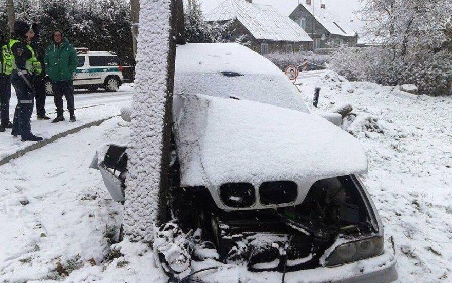 BMW avarija Rokiškyje