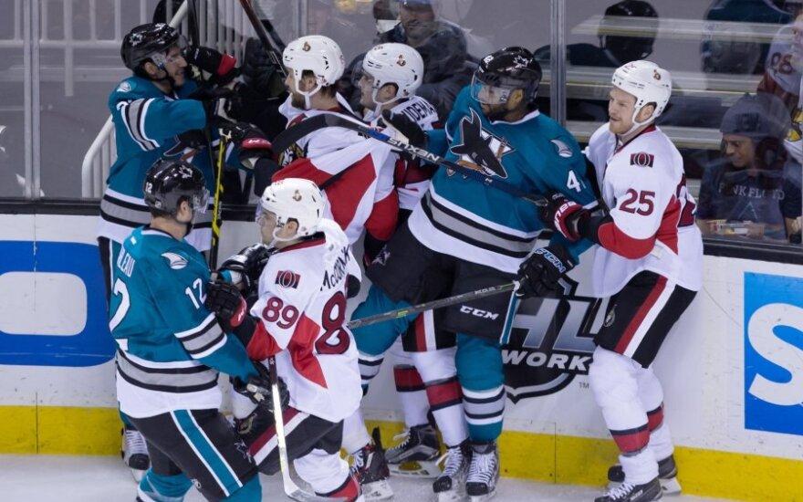 """NHL: """"Sharks"""" - """"Senators"""" rungtynės"""