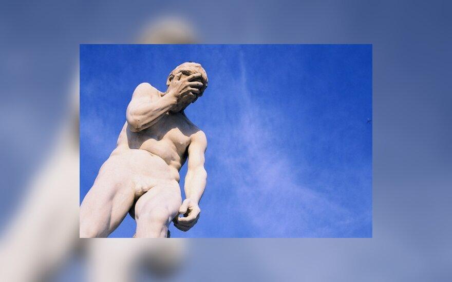 Nuogo vyro skulptūra