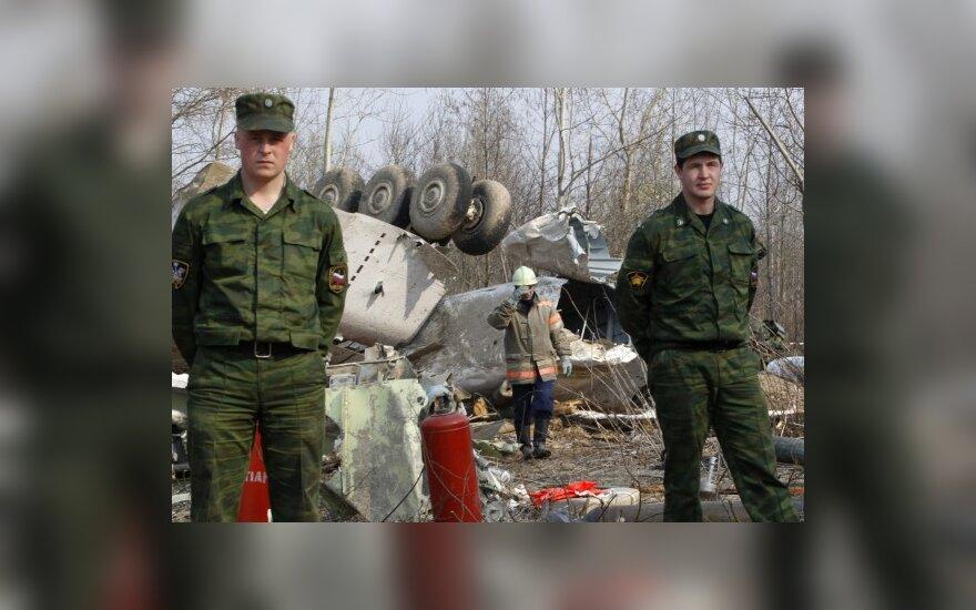 Lenkijos lėktuvo lakūnai prieš katastrofą elgėsi bravūriškai