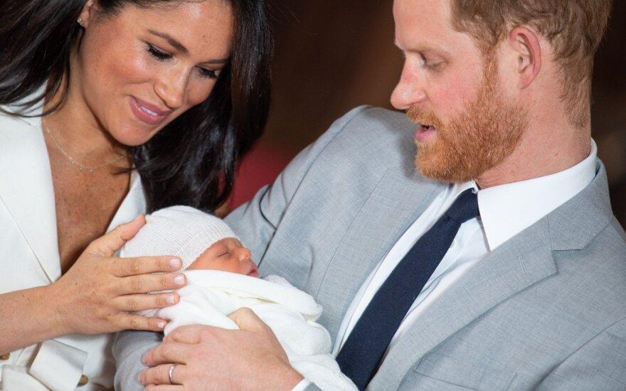 Meghan Markle ir princas Harry pristato sūnų Archie