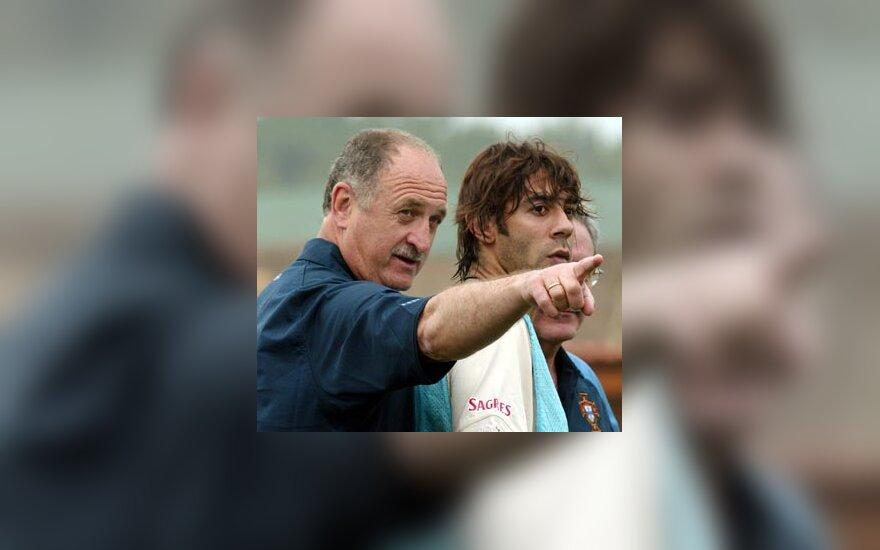 Luis Felipe Scolari ir Rui Costa (Portugalija)