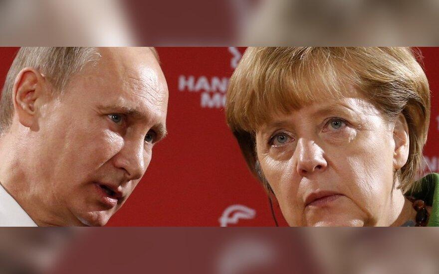 Vladimiras Putinas ir Angela Merkel