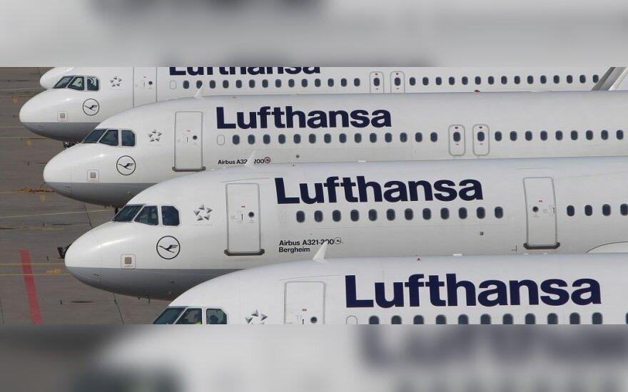 """""""Reuters"""": """"Lufthansa"""" kreipėsi į teismą, siekdama užkirsti kelią pilotų streikui"""