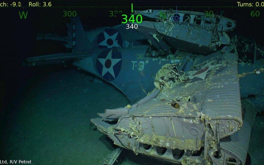 "Ramiajame vandenyne rasta JAV lėktuvnešio ""USS Hornet"" žūties 1942 metais vieta"