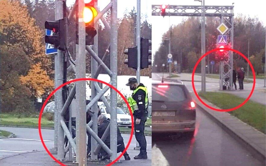 """Policija bando vairuotojų kantrybę: """"trikojus"""" slapsto ir už stulpų, ir už krūmų"""
