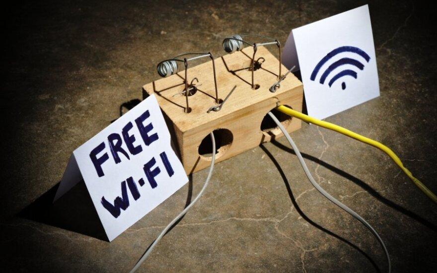 Nemokamo Wifi ryšio pavojai