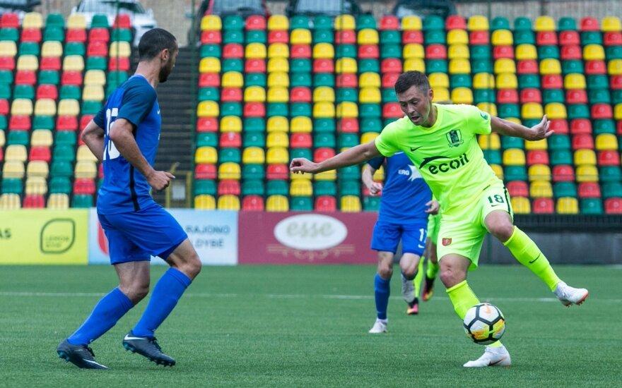"""UEFA Europos lygos pirmasis etapas FK """"Trakai"""" - FC Irtysh Pavlodar, Dinijaras Bilialetdinovas"""