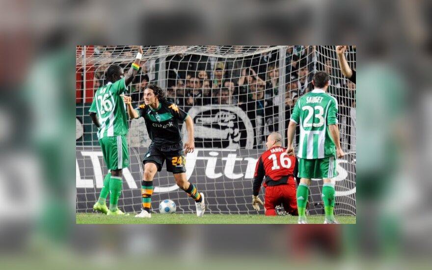 """""""Marseille"""" ir """"Werder"""" žengė į UEFA taurės turnyro ketvirtfinalį"""