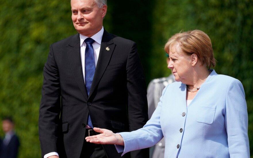 Nausėda Berlyne džiaugėsi Vokietijos bendrovių investicijomis Lietuvoje