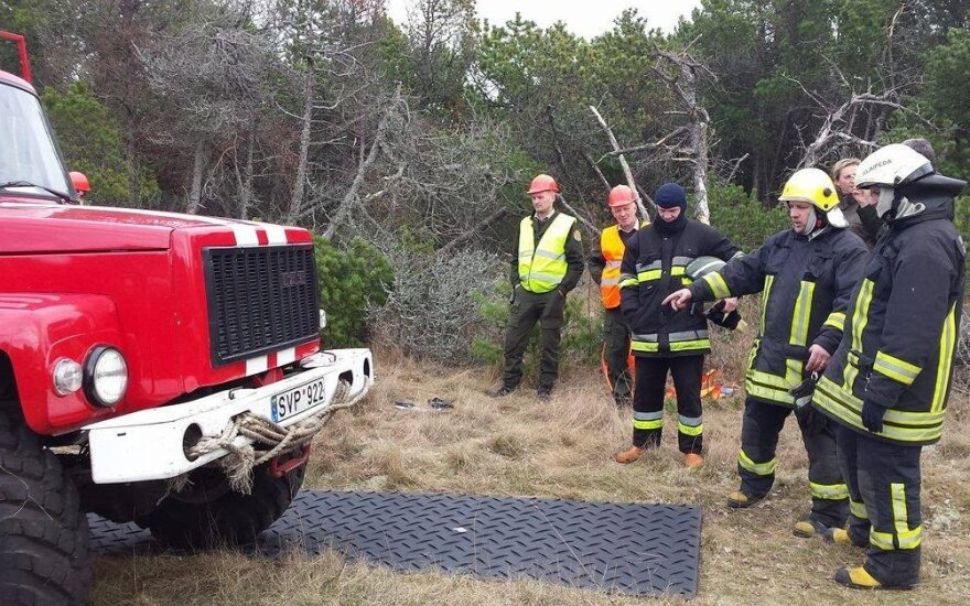 Firefighters put out fires but remain on high alert