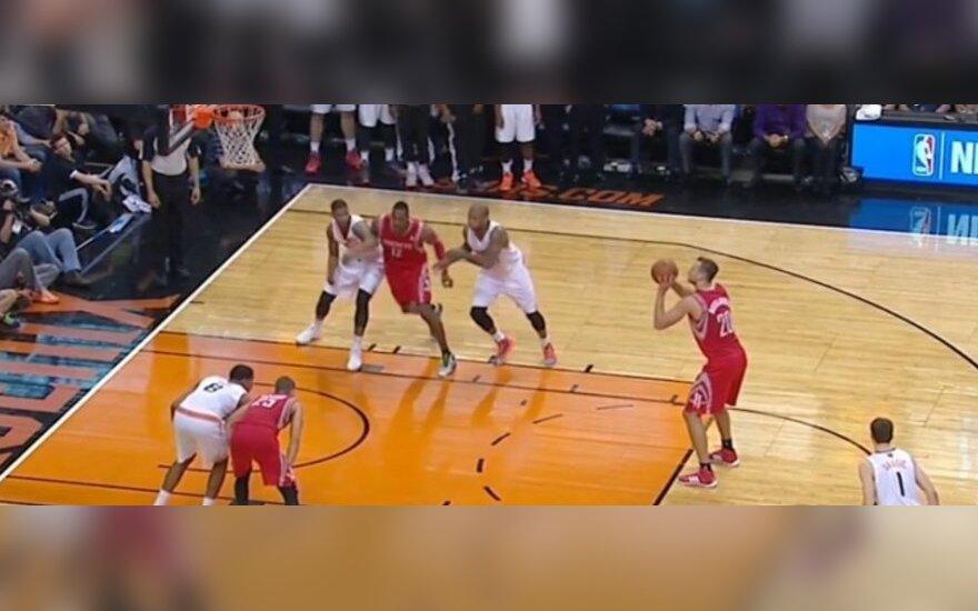 NBA lygoje – J. Valančiūno antirekordas ir pergalingos D. Motiejūno baudos