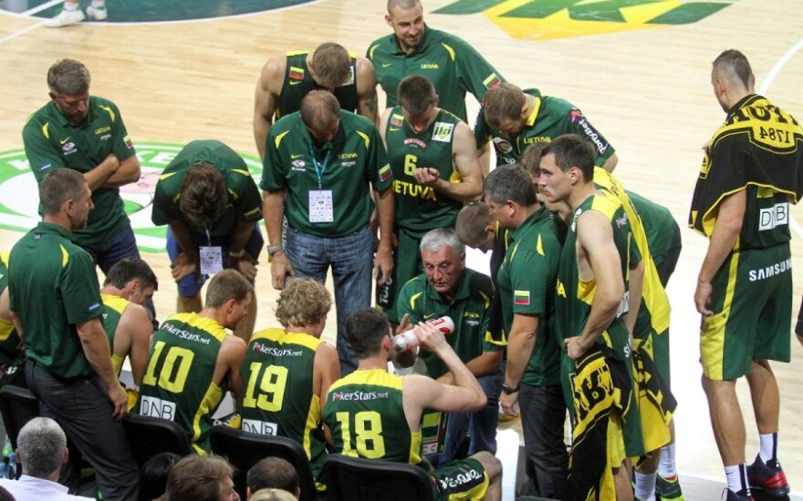 Kontrolinės vyrų krepšinio rungtynės. Lietuva - Belgija