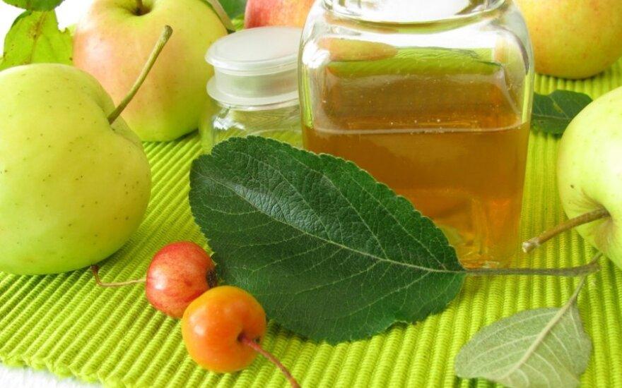 Dešimt būdų, kaip sveikatai panaudoti obuolių actą