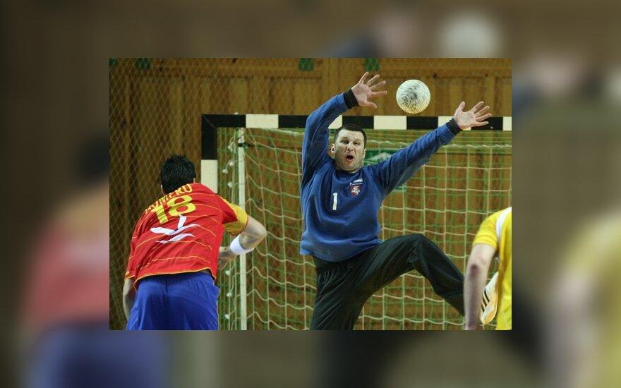 Lietuvos rankininkai po atkaklios kovos nusileido Ispanijos rinktinei