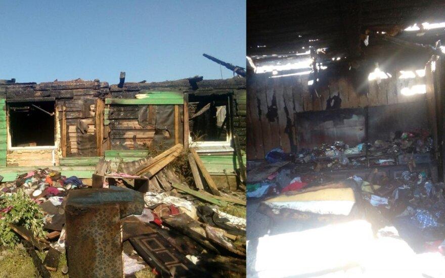 Iš šeimos namų liko tik degėsių krūva ir neviltis: prašo Lietuvos gyventojų pagalbos