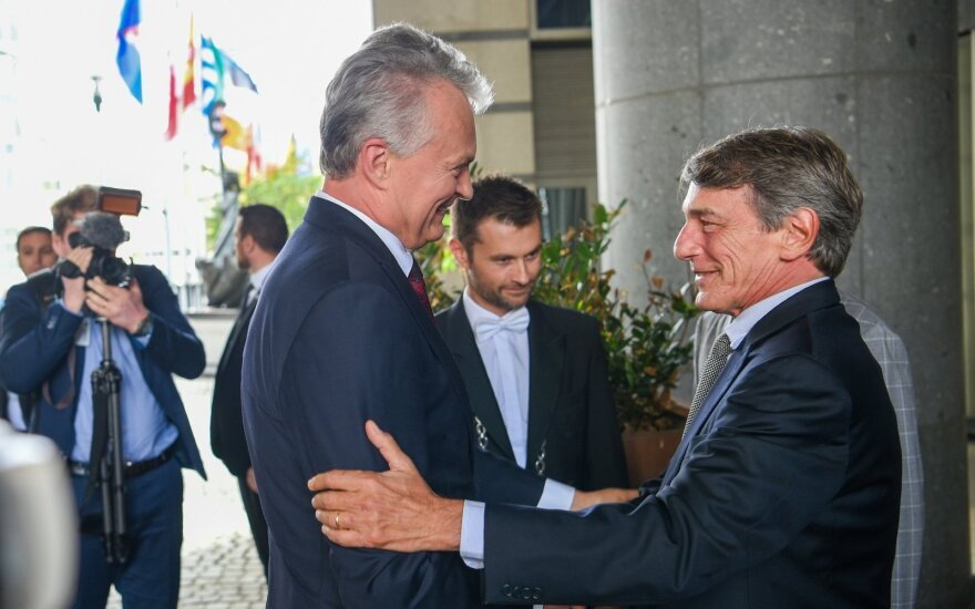 Nausėdos ir EP pirmininko susitikimas už uždarų durų: sureagavo ir į Lietuvos žingsnį dėl Rusijos