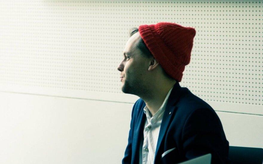 Fionn Dobbin at Social Enterprise summit. Photo by Laurynas Andriušis