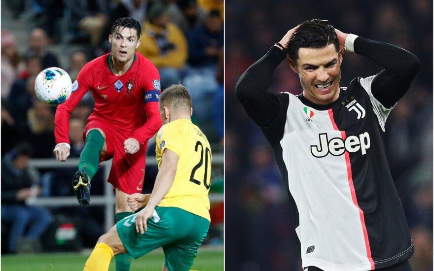 """Cristiano Ronaldo Portugalijos rinktinėje ir """"Juventus"""" klube / Foto: AP-Scanpix"""