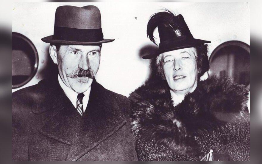 Antanas Smetona ir Sofija Smetonienė. Archyvo nuotr.