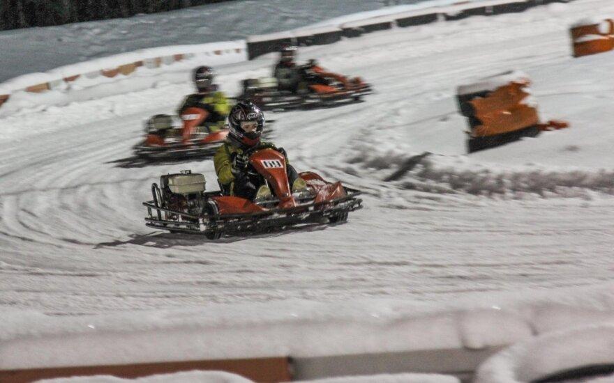 Žiemą kartodrome atsiranda daugiau progų lenkti