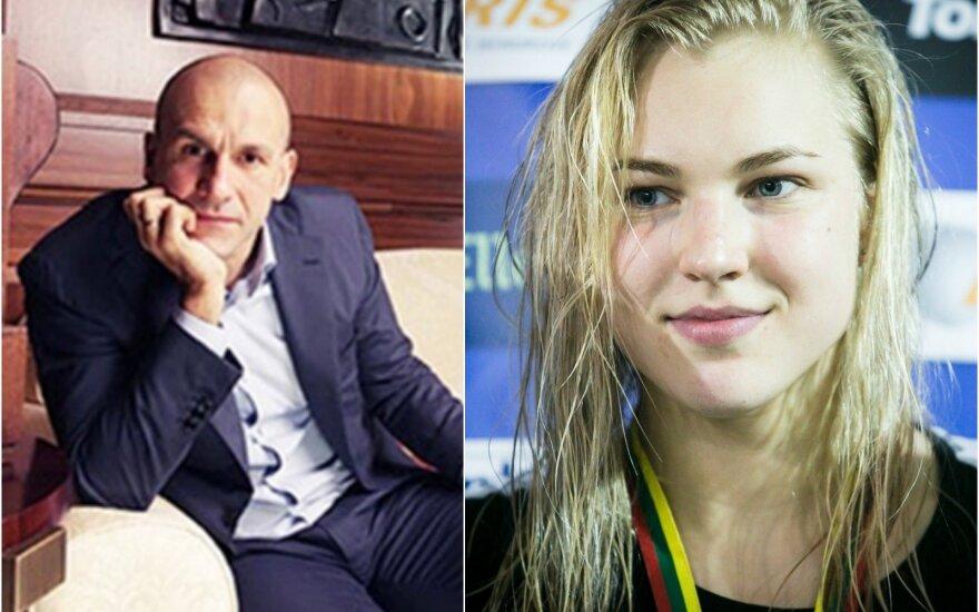 Konstantinas Grigorišinas ir Rūta Meilutytė