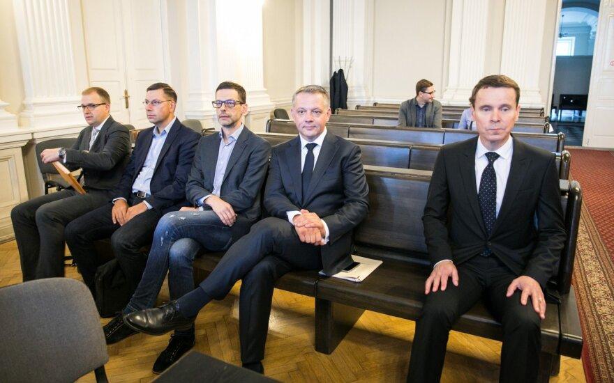 """""""MG Baltic"""" bylos posėdis: naujasis Gustainio advokatas dar nespėjo susipažinti su bylos medžiaga"""