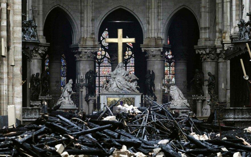 Vyskupas: Paryžiaus Dievo Motinos katedra bus uždaryta iki 6 metų