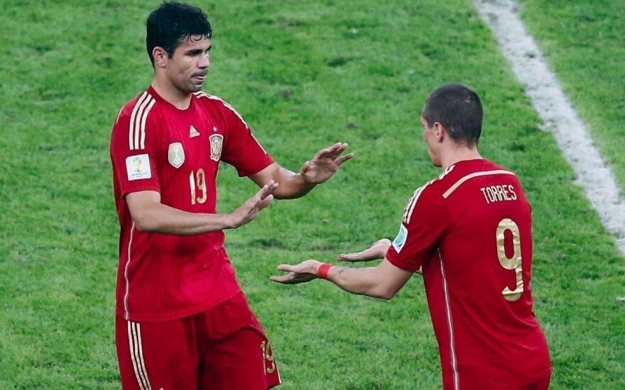 Netikėta: Ispanijos rinktinė į Europos čempionatą – be D. Costos, J. Matos ir F. Torreso
