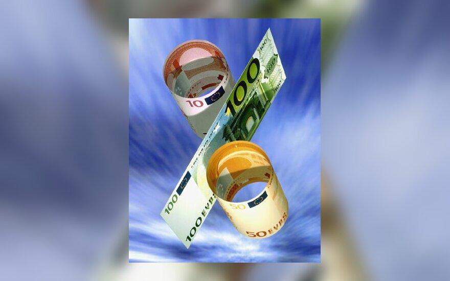 Pinigai, eurai, progresas, pelnas, procentai